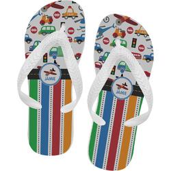 Transportation & Stripes Flip Flops (Personalized)