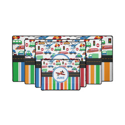Transportation & Stripes Gaming Mouse Pad (Personalized)