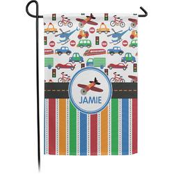 Transportation & Stripes Garden Flag (Personalized)