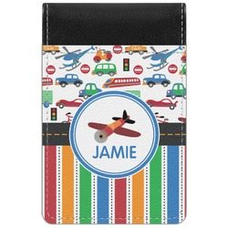 Transportation & Stripes Genuine Leather Small Memo Pad (Personalized)