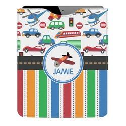 Transportation & Stripes Genuine Leather iPad Sleeve (Personalized)