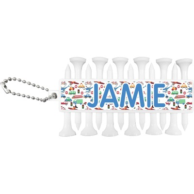 Transportation & Stripes Golf Tees & Ball Markers Set (Personalized)