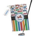 Transportation & Stripes Golf Towel Gift Set (Personalized)