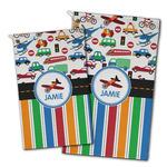 Transportation & Stripes Golf Towel - Full Print w/ Name or Text