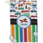 Transportation & Stripes Golf Towel - Full Print (Personalized)
