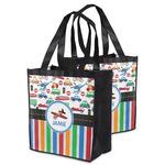 Transportation & Stripes Grocery Bag (Personalized)