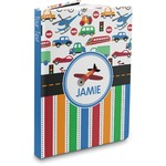 Transportation & Stripes Hardbound Journal (Personalized)