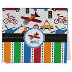 Transportation & Stripes Kitchen Towel - Full Print (Personalized)