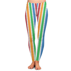 Transportation & Stripes Ladies Leggings - Large (Personalized)