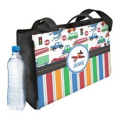 Transportation & Stripes Ladies Workout Bag (Personalized)