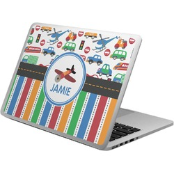 Transportation & Stripes Laptop Skin - Custom Sized (Personalized)