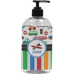Transportation & Stripes Plastic Soap / Lotion Dispenser (Personalized)