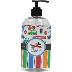 Transportation & Stripes Plastic Soap / Lotion Dispenser (Personalized)