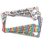 Transportation & Stripes License Plate Frame (Personalized)