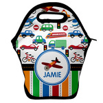 Transportation & Stripes Lunch Bag w/ Name or Text
