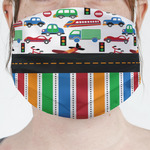 Transportation & Stripes Face Mask Cover (Personalized)