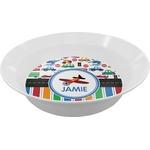 Transportation & Stripes Melamine Bowls (Personalized)