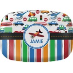 Transportation & Stripes Melamine Platter (Personalized)