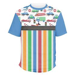 Transportation & Stripes Men's Crew T-Shirt (Personalized)