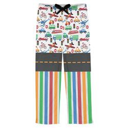 Transportation & Stripes Mens Pajama Pants (Personalized)