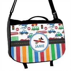 Transportation & Stripes Messenger Bag (Personalized)