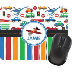 Transportation & Stripes Mouse Pad (Personalized)