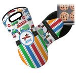 Transportation & Stripes Neoprene Oven Mitt (Personalized)