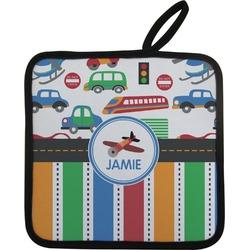 Transportation & Stripes Pot Holder (Personalized)