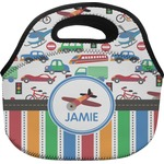 Transportation & Stripes Lunch Bag (Personalized)