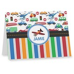 Transportation & Stripes Note cards (Personalized)