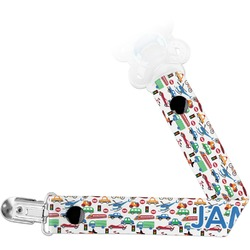 Transportation & Stripes Pacifier Clips (Personalized)