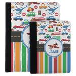 Transportation & Stripes Padfolio Clipboard (Personalized)