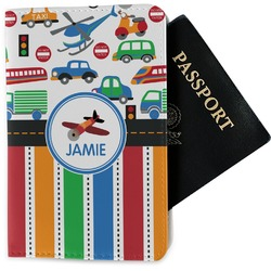 Transportation & Stripes Passport Holder - Fabric (Personalized)
