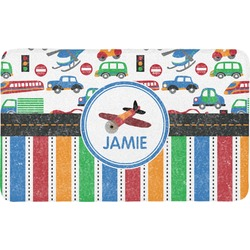 Transportation & Stripes Bath Mat (Personalized)