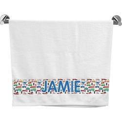 Transportation & Stripes Bath Towel (Personalized)