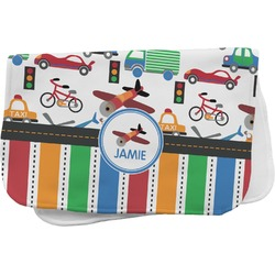 Transportation & Stripes Burp Cloth (Personalized)