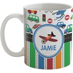 Transportation & Stripes Coffee Mug (Personalized)