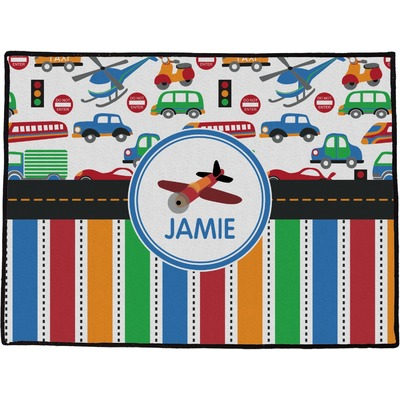 Transportation & Stripes Door Mat (Personalized)