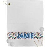 Transportation & Stripes Golf Towel (Personalized)