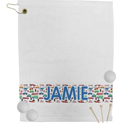 Transportation & Stripes Golf Towel (Personalized)