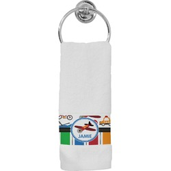 Transportation & Stripes Hand Towel (Personalized)