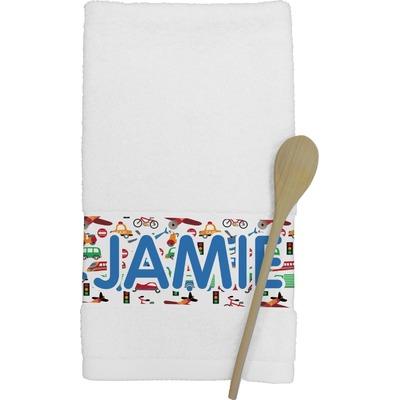 Transportation & Stripes Kitchen Towel (Personalized)