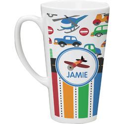 Transportation & Stripes Latte Mug (Personalized)