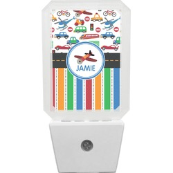 Transportation & Stripes Night Light (Personalized)