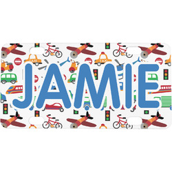 Transportation & Stripes Mini / Bicycle License Plate (Personalized)