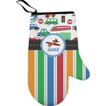 Transportation & Stripes Right Oven Mitt (Personalized)