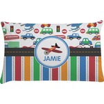 Transportation & Stripes Pillow Case (Personalized)