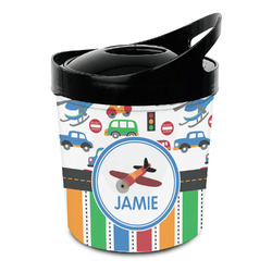 Transportation & Stripes Plastic Ice Bucket (Personalized)
