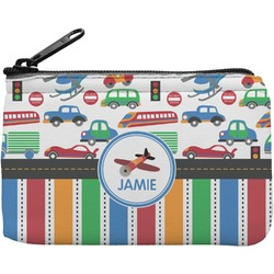 Transportation & Stripes Rectangular Coin Purse (Personalized)