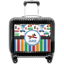 Transportation & Stripes Pilot / Flight Suitcase (Personalized)